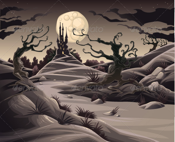 Horror landscape - Halloween Seasons/Holidays