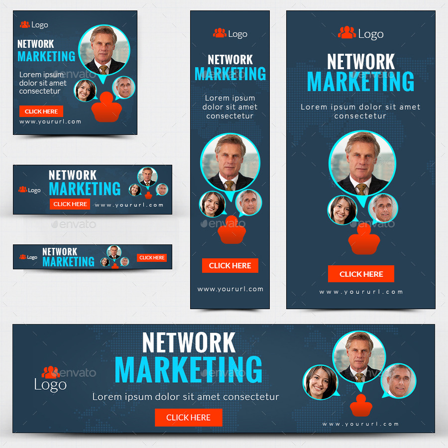 Multi Level Marketing Banners Hearts Banners