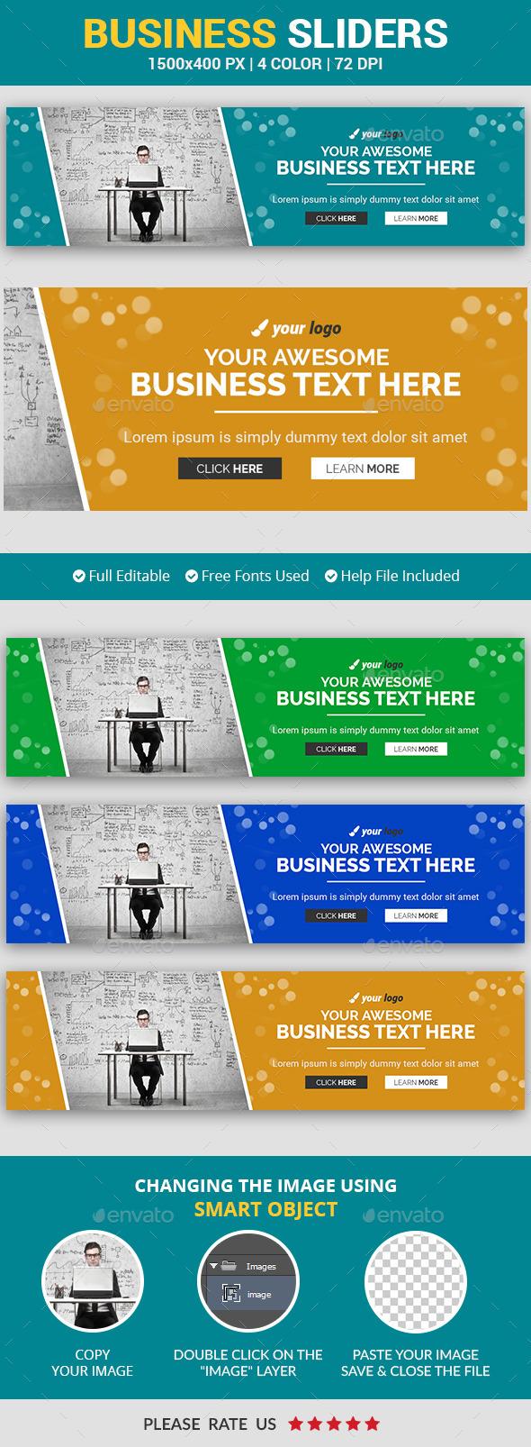 Business Slider v6 - Sliders & Features Web Elements