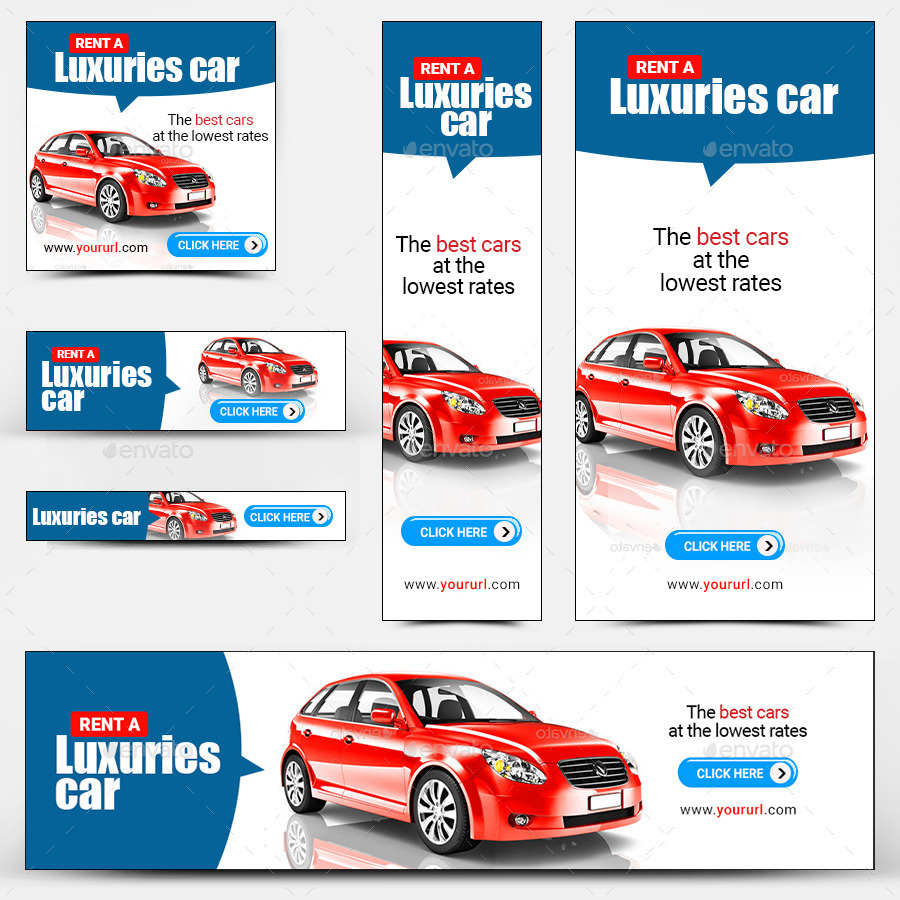 Car Rental Banners By Doto