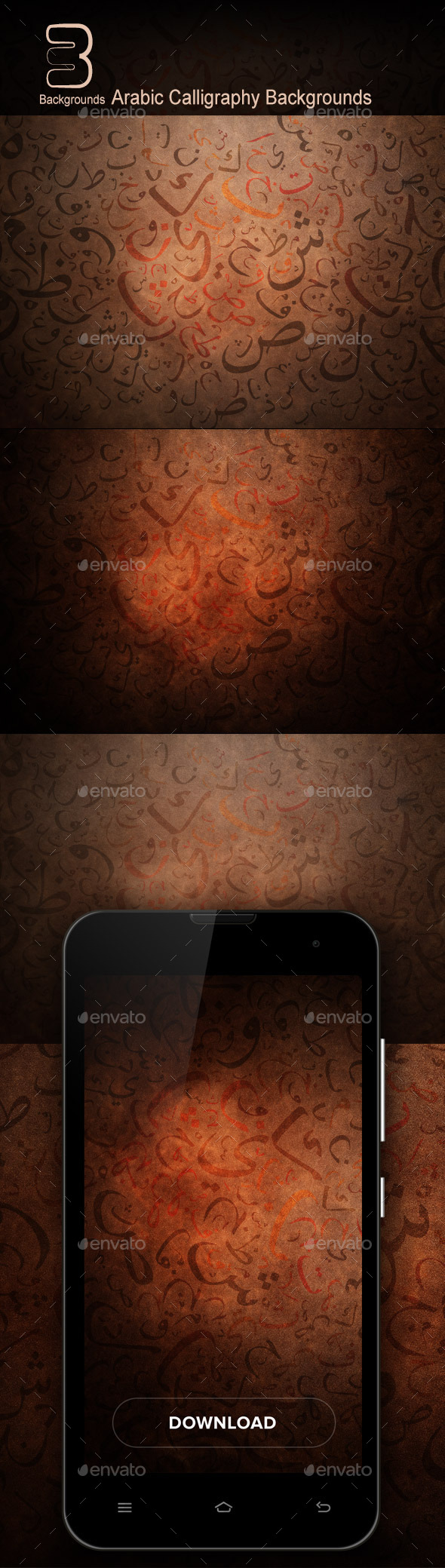 Arabic Calligraphy Backgrounds - Backgrounds Graphics
