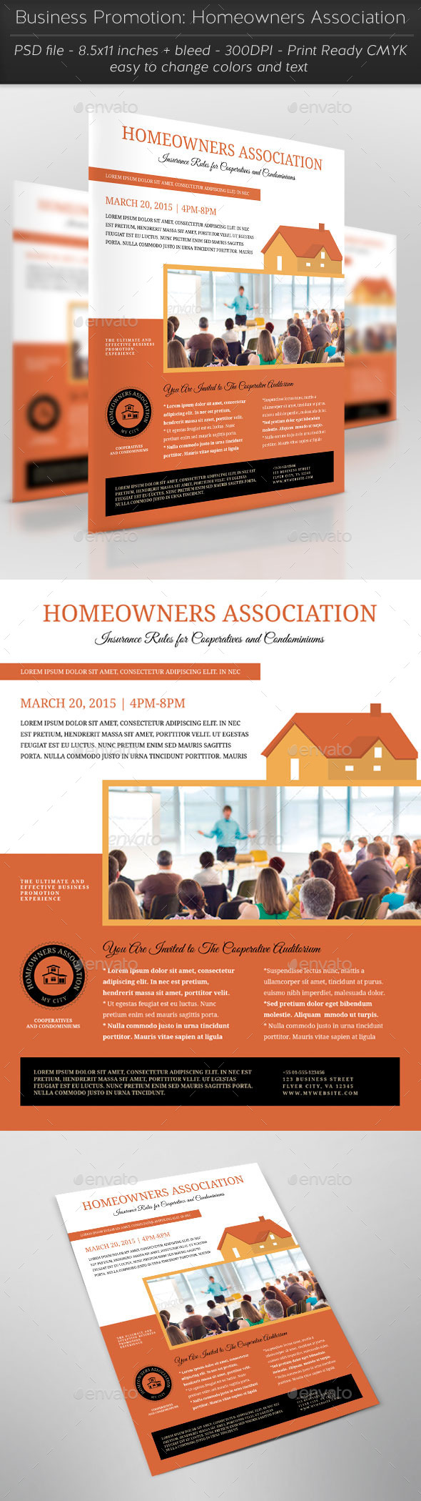 Business Promotion: Homeowners Association - Flyers Print Templates