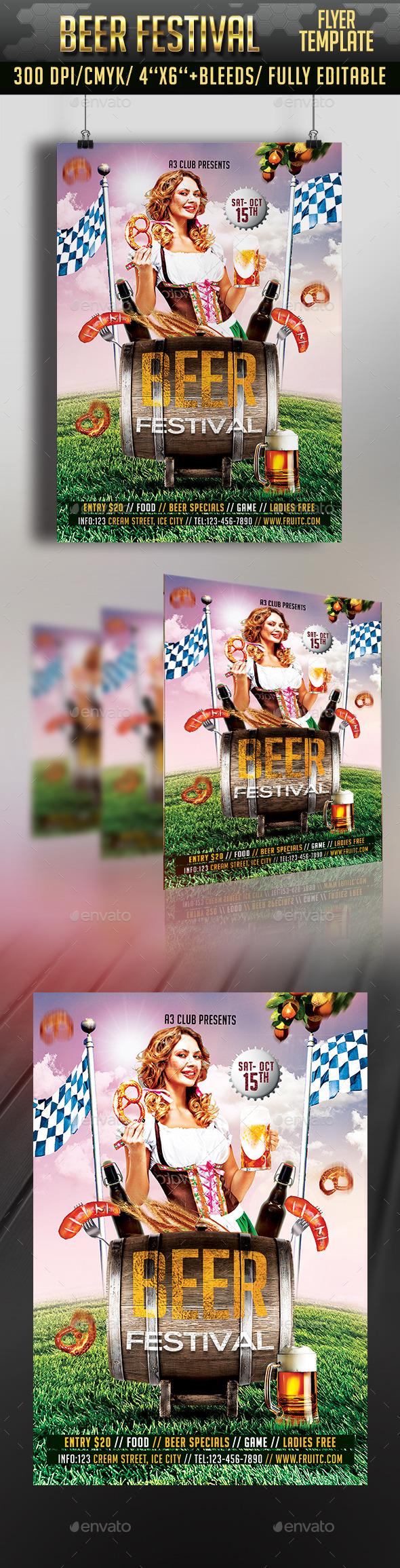 October Beer Festival Flyer - Clubs & Parties Events