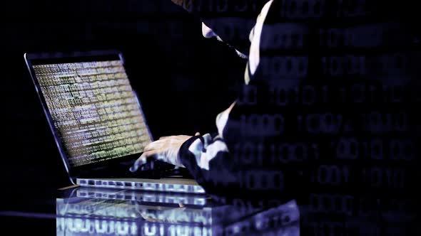 Hacker Working On His Laptop 1