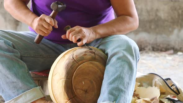 Hand Of Carver Carving Wood 11