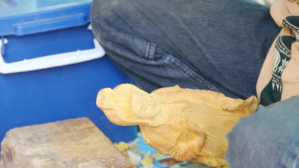 Hand Of Carver Carving Wood 12