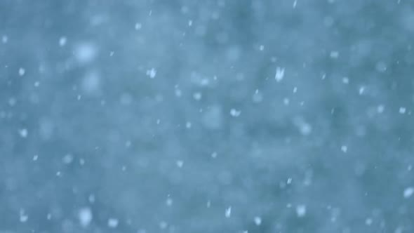 Abstract Snowstorm Blue Texture Background