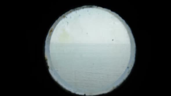 Porthole View Of The Ocean