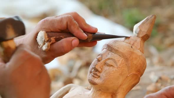 Hand Of Carver Carving Wood 8