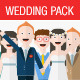 Cute Wedding Cartoon Characters Creation Kit - GraphicRiver Item for Sale