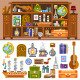 Travelers's Cupboard With Souvenirs - GraphicRiver Item for Sale