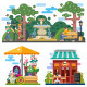 Beautiful City Place In Summer Time - GraphicRiver Item for Sale
