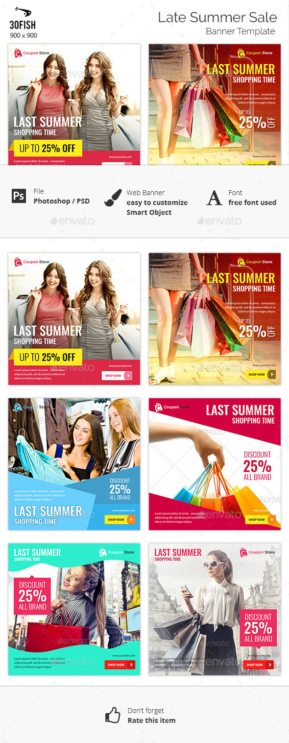 Last Summer Sale Banner - Banners & Ads Web Elements