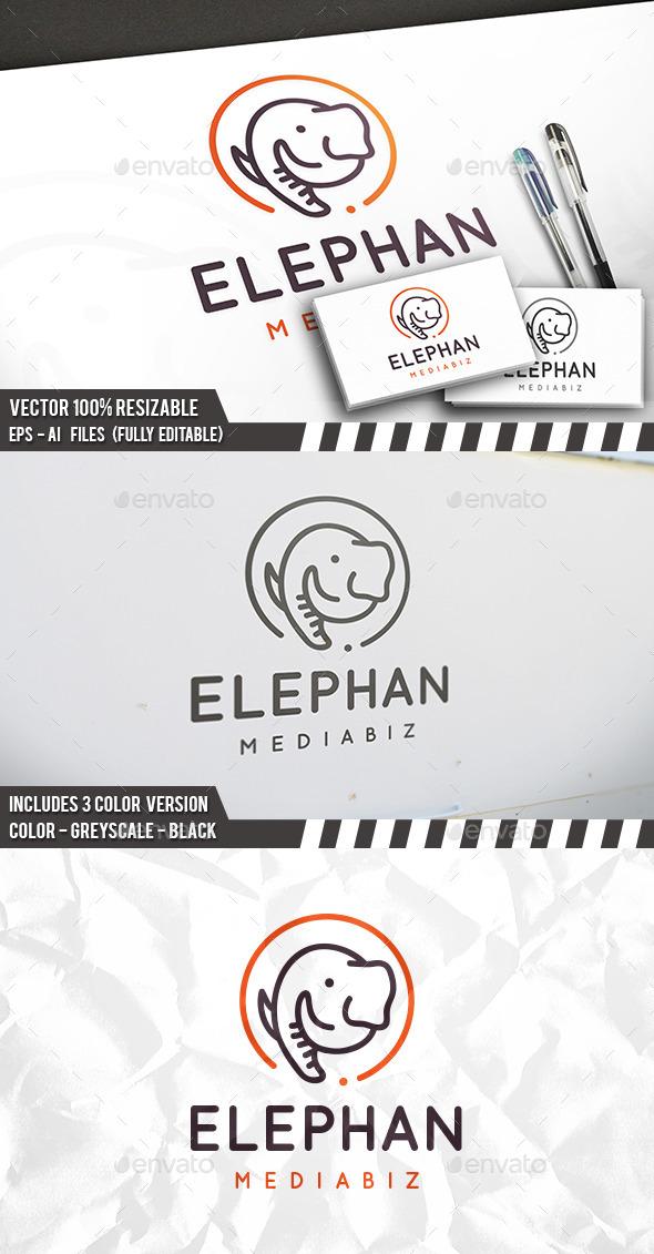 Elephant Head Logo - Animals Logo Templates