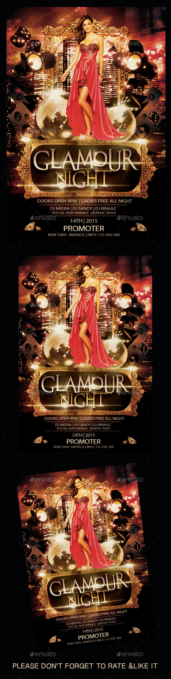 Glamour Night Flyer - Flyers Print Templates