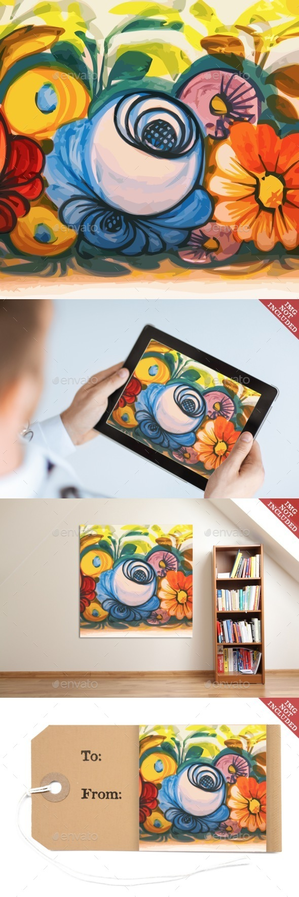 Flower Ceramic Vintage Decoration - Decorative Vectors