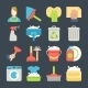 Cleaning Icon Set Isolated With Windows Dishes - GraphicRiver Item for Sale