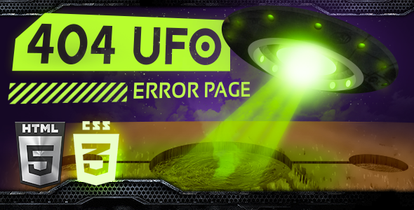 Image of UFO 404 Error Page