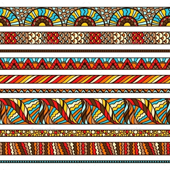 Ethnic Background Design With Hand Drawn Ornament - Patterns Decorative
