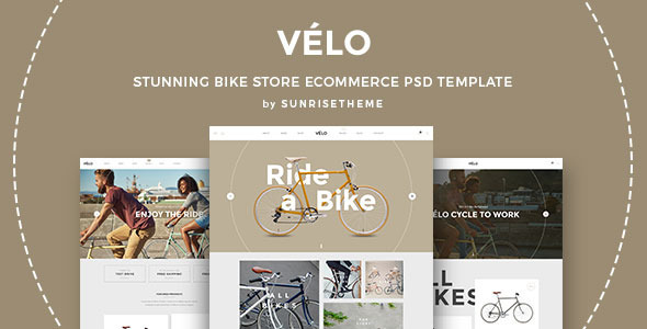 Velo - Stunning Bike Store eCommerce PSD Template - Retail PSD Templates