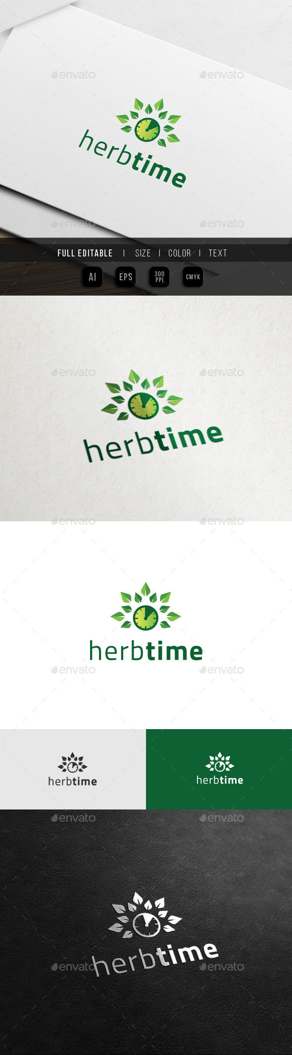 Herbal Time - Health Life Logo - Nature Logo Templates