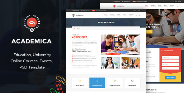 Academica -  Educational PSD Theme