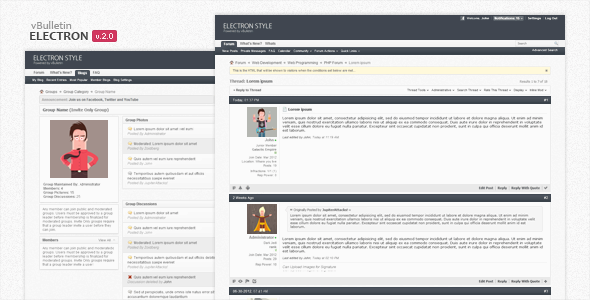 Download Electron - vBulletin Forum Skin nulled version