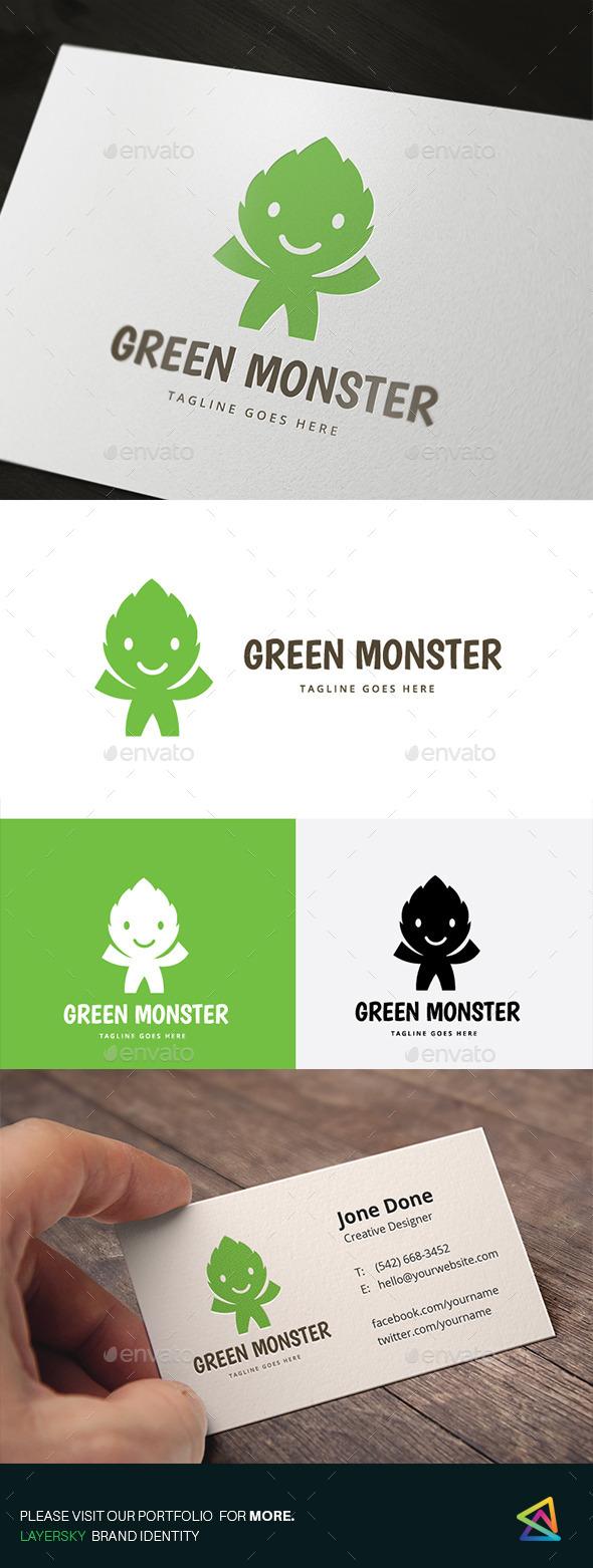 Green Monster - Nature Logo Templates