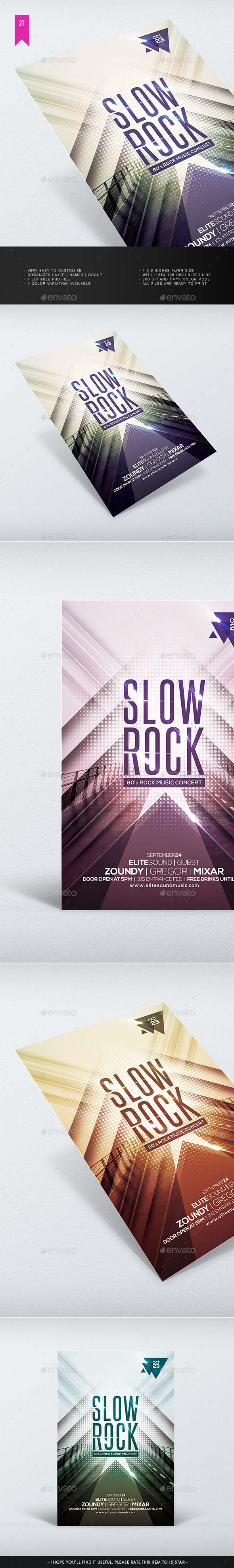 Slow Rock - Flyer Template - Clubs & Parties Events