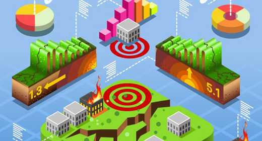Disasters Infographic Isometric Vector Illustration