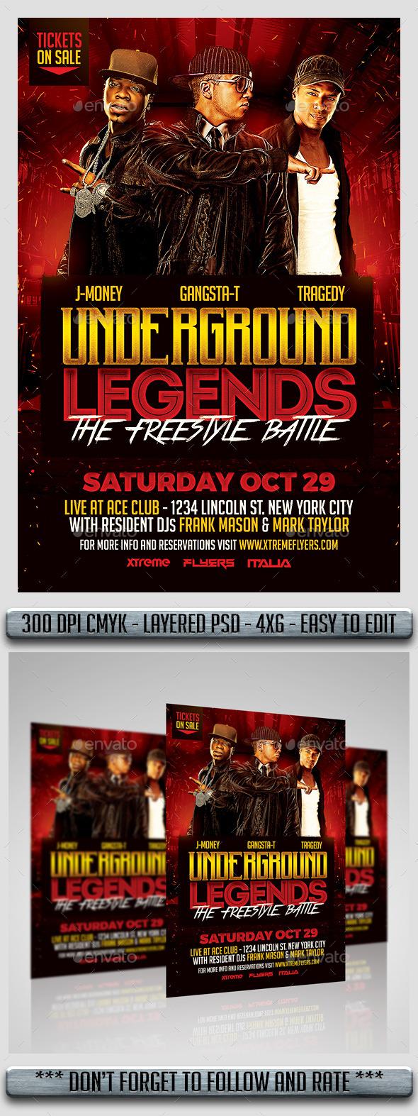 Hip Hop Battle Flyer - Flyers Print Templates