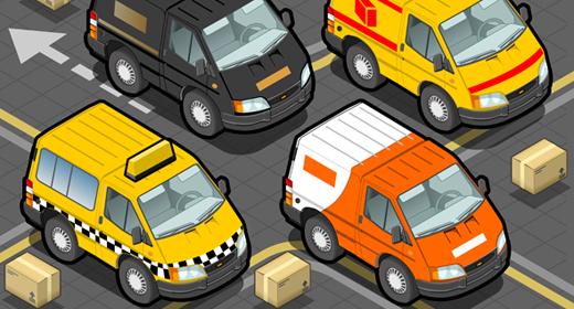 Transport Truck Set 3D Isometric Vector Mega Collection