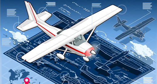 Planes Set 3D Isometric Vector Mega Collection