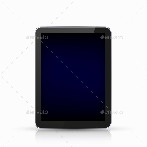 Vector Modern Realistic Computer Tablet - Computers Technology