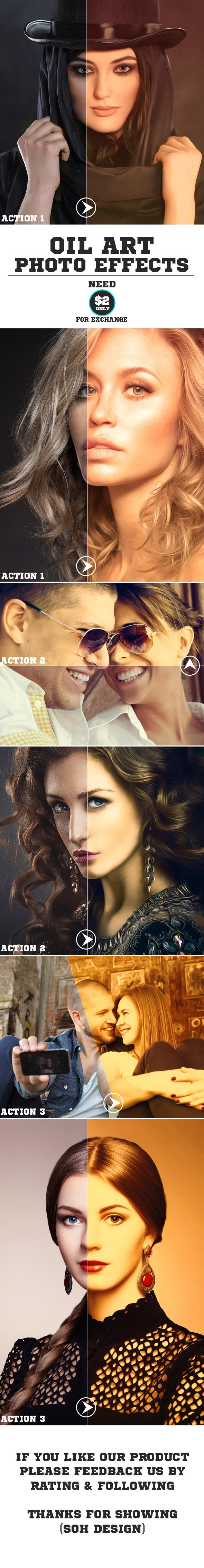 3-Oil Art Photo Effects