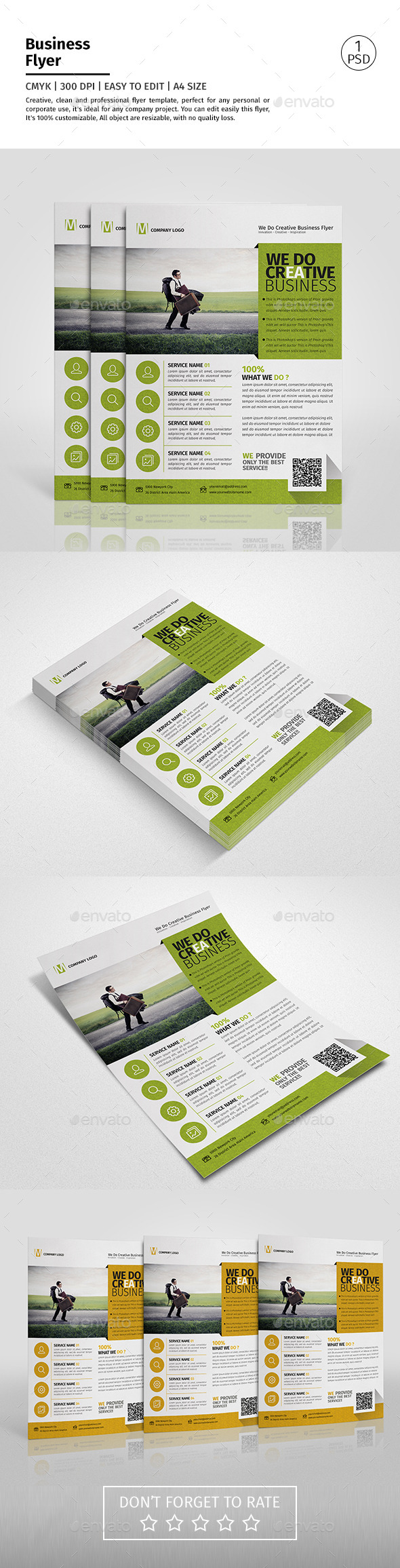 A4 Corporate Business Flyer Template Vol 07