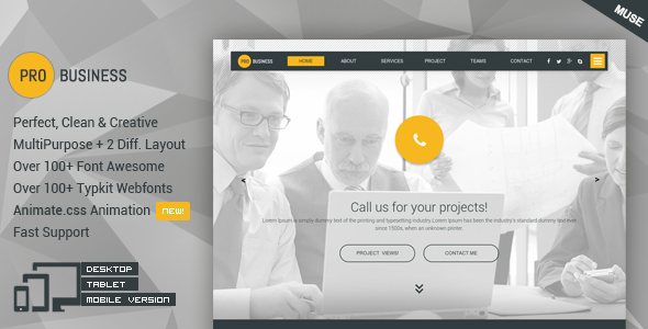 ProBusiness – Multipurpose Business Muse Theme