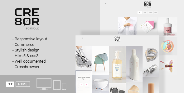 CRE8OR – Minimal Portfolio Template