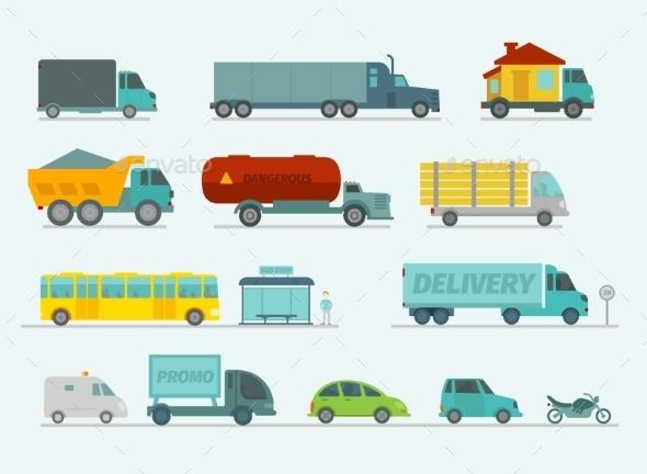 Transportation Set - Travel Conceptual