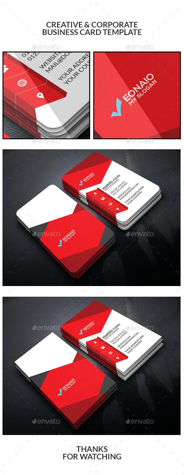 Creative & Corporate Business Card Template - Business Cards Print Templates