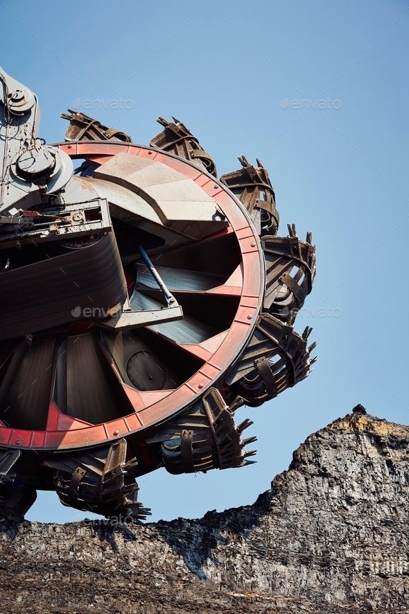 Huge mining machine - Stock Photo - Images