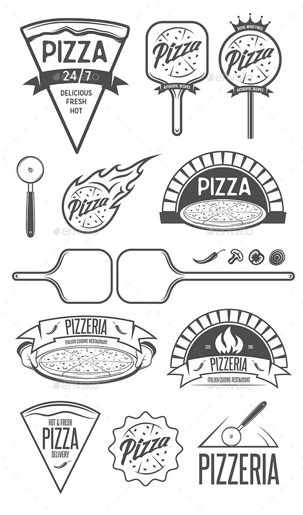 Pizza Design Elements - Food Objects