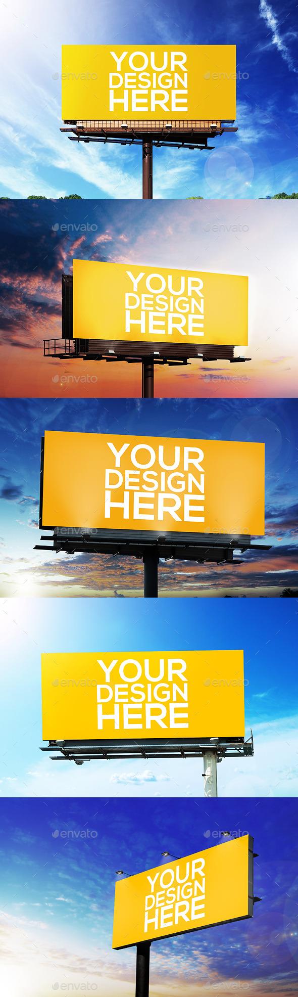 Realistic Billboard Mockups