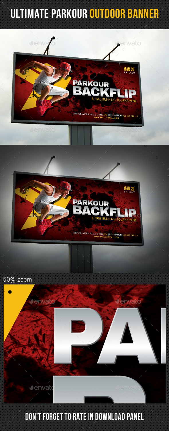 Ultimate Parkour Outdoor Banner V2