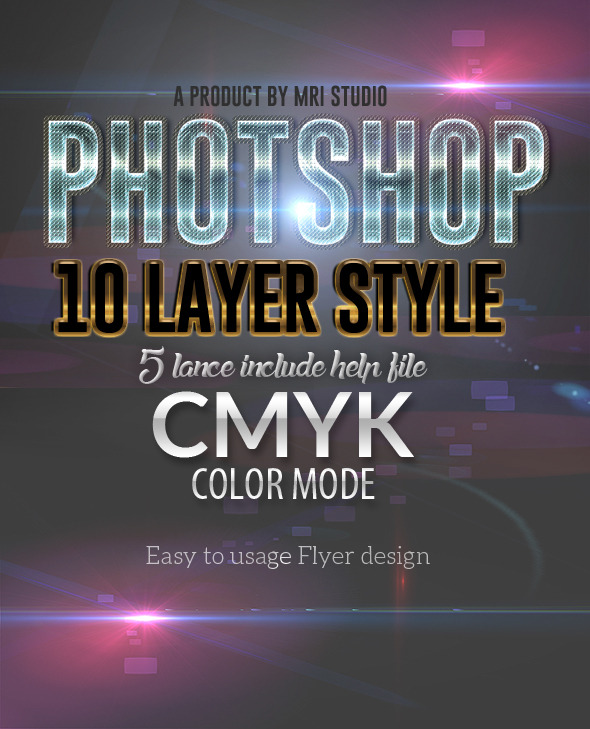 Flyer Photoshop Layer Styles - Text Effects Styles