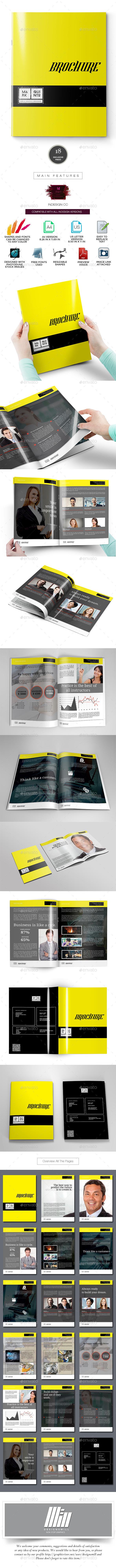 Marvelous Yellow Brochure Template - Corporate Brochures