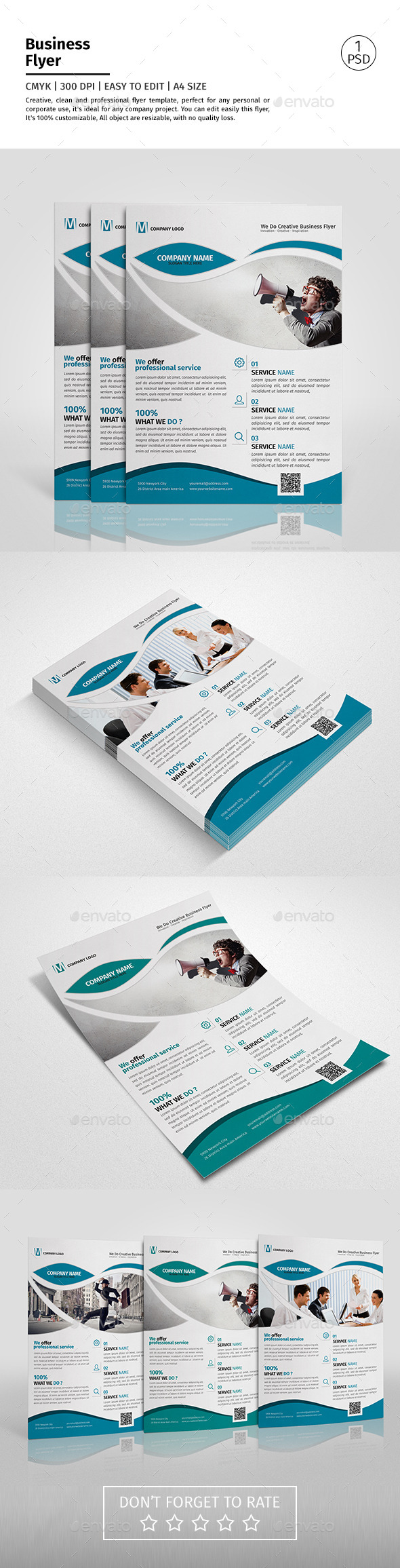 A4 Corporate Business Flyer Template Vol 09