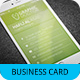 iPhone Business Card Template V-5 - GraphicRiver Item for Sale