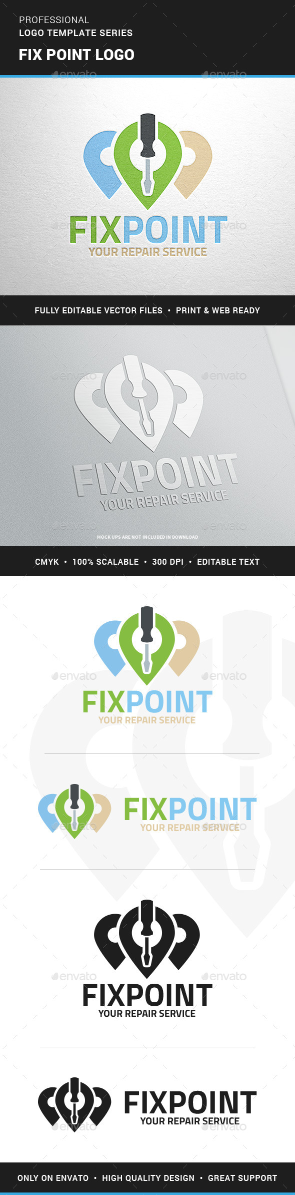 Fix Point Logo Template - Objects Logo Templates