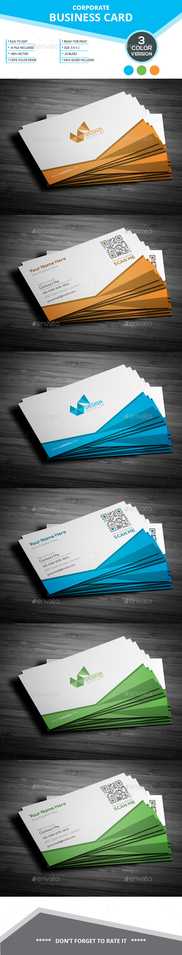 Corporate Business Card _ SL _ 31 - Business Cards Print Templates
